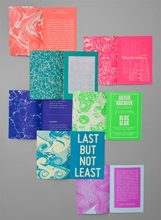 Zine inspiration. Great colors