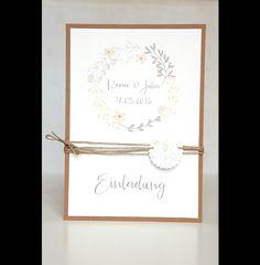 **10er Einladungs- oder Danksagungskarten-Set für Deine DIY Vintage Hochzeit**  **Das Set besteht aus:**  - 10 unbedruckten Kraftpapierkarten in der Größe A6 - ca. 280g   (auf Wunsch auch in...