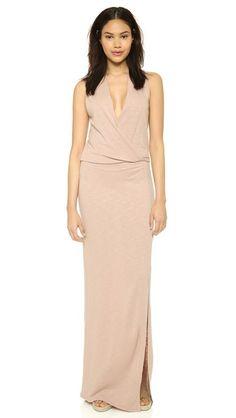 Lanston Surplice Maxi Dress   SHOPBOP