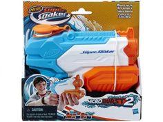 Lançador de Água Nerf Super Soaker - Microburst 2 Blaster - Hasbro com as melhores condições você encontra no Magazine Megadomingues. Confira!