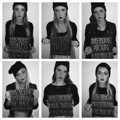 Group Halloween costume. Criminals mugshots
