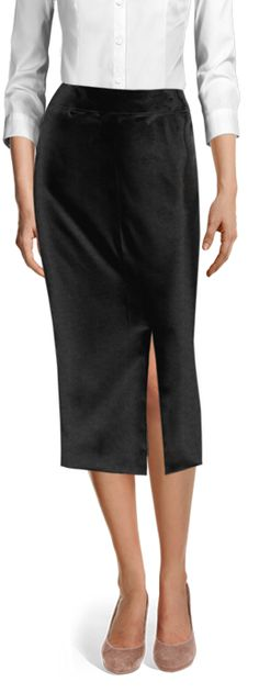 Customized by you, and made to fit your unique measurements Velvet Skirt, Tailored Suits, Casual Skirts, Wool Skirts, Suits For Women, Black Velvet, Business Skirts, Mulberry Wine, Work Wear