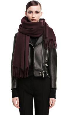 Canada Dark Wine blanket scarf | 200cm x 70cm