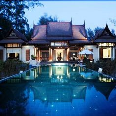Luxury home in Thailand..old traditional style with a modern twist