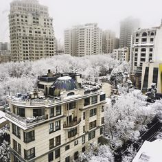 Snowy day in Tehran, Iran this morning! [960 x 960]
