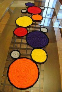 Caminos De Mesa Crochet - $ 350,00