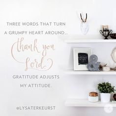 The more I verbalized what I was thankful for, the less cloudy my heart felt. I couldn't explain my feelings, and I didn't understand my feelings. But, I found that verbalizing my thankfulness was the very thing that kept me from wallowing in the pit.  So, let's be thankful that God makes a way for us to live our lives based on truth rather than our unpredictable feelings. - Lysa TerKeurst || click here to read the rest of today's P31 radio show…
