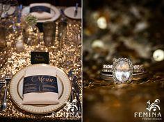 Winter Wedding, Bryant Park Grill Wedding, Reception Decor, Halo Raw Diamond Engagement Ring, www.feminaphoto.com