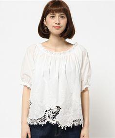 コットンローン刺繍2WAYギャザーブラウス(シャツ/ブラウス)|allureville(アルアバイル)のファッション通販 - ZOZOTOWN