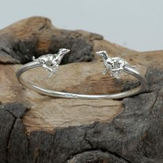 Running Greyhounds Bangle in Sterling Silver