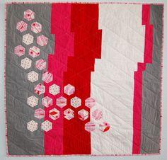 Modern Hexagon Quilt by Jen Eskridge, 2011