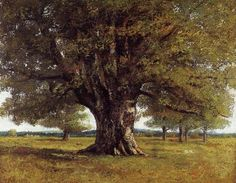 The Oak of Flagey (The Oak of Vercingetorix), Gustave Courbet    Medium: oil,canvas