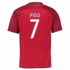 Portugal 2016 Figo 7 Hjemmedrakt Kortermet.  http://www.fotballpanett.com/portugal-2016-figo-7-hjemmedrakt-kortermet.  #fotballdrakter