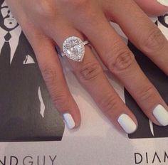 Halo Style Pear Shape Diamond Dream Engagement Ring