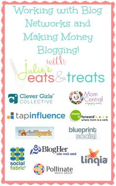Working with Blog Networks and Making Money Blogging! Turn your passion into a business!