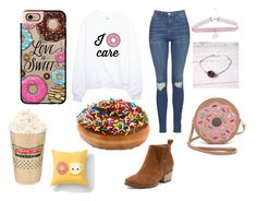 Donuts by aamna16 on Polyvore featuring polyvore, fashion, style, Topshop, Patricia Chang, Casetify, LOTTA and clothing