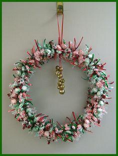 Candy Wreath . Christmas Wreaths, Christmas Crafts, Candy Wreath, Holiday Decor