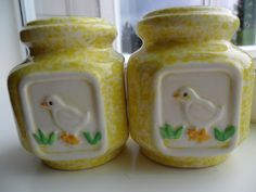 Vintage Salt and Pepper Shakers Signed Pottery Craft by KathiJanes, $11.95