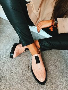 b3f5d6e280f Dusty Pink Rome Brogues. I N C H 2. Brogues Womens OutfitOxford Shoes Outfit Women ...