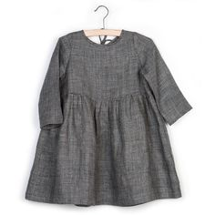 Grey checked linen dress