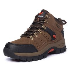 Comfortable, breathable, wearable, men's and women's high-top hiking shoes, outdoor couples, walking shoes