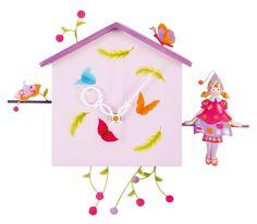 Achat de Horloge Alabonneheure Fille et Papillon Cute Clock, Toys, Home Decor, Feltro, Kids Rooms, Butterflies, Clocks, Daughter, Gaming