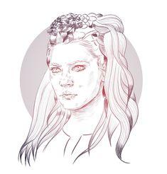 Lagertha  #lagertha #vikings #KatherynWinnick #illustration #portraits #carinacrenshaw #sugah #illustrationportfolio #historychannel