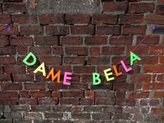 Made as a custom banner for Dame Bella Houston   Letter banners in our store paperstreetdolls.etsy.com Scottish decor by Paper Street Dolls