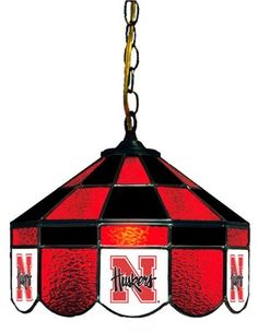 Nebraska Cornhuskers Stained Glass Lamp
