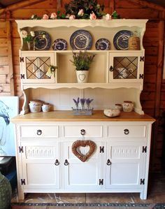 Gorgeous Old Charm Dresser Painted In Farrow U0026 Ball Off White With Sanded  Solid Oak Top
