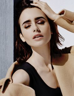 Lily Collins for Mujer Hoy magazine.