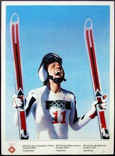Sarajevo 84 Winter Olympics Poster