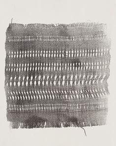 Weaving, monoprinted. 2009.