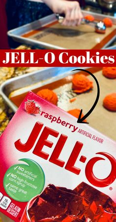 So easy and such a fun cookie to make, this Jello Cookie recipe is one of our favorites! Colorful with a burst of jello flavor, these will be a hit with adults and kids alike. This is also a great cookie recipe for kids just getting started in the kitchen. Cookie Recipes For Kids, Best Dessert Recipes, Fun Desserts, Snack Recipes, Snacks, Jello Cookies, Fun Cookies, Jello Flavors, Corn Syrup