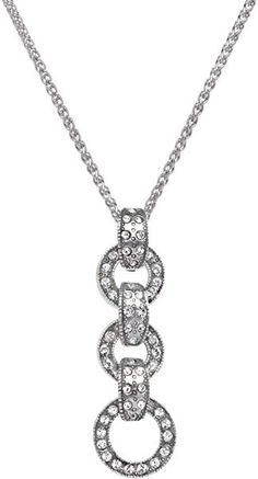 Novelty Jewellery Bonyak Jewelry Sterling Silver Divine Mercy Pendant 3/4 x 1/2 inches with 18 inch Sterling Silver Curb Chain