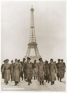 When Paris fell to German occupation on June 14, 1940, it has been said that French resistance fighters cut the elevator cables to the Eiffel Tower. This meant that if Hitler wanted to hoist a swastika flag, a soldier would have to climb the roughly 1710 stairs to the summit platform. As Allies neared Paris in August 1944, a Frenchman scaled the tower and hung the French flag.
