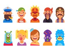 Avatars of People and Monsters Set 1 by Andrey Kolotilin - Dribbble