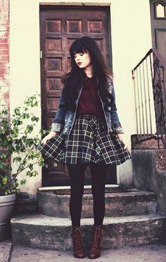 Inspiração: a ideia toda do look é bastante interessante, mas optaria por uma saia menos armada.