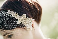 jeweled birdcage veil // photo by A Couple of Night Owls