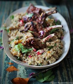 Lamb, Quinoa, Oriental Spices = perfect dinner (in German)