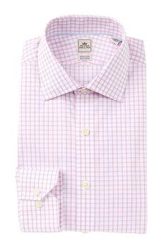 Grid Print Slim Fit Dress Shirt