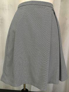 ead2ffddb Anne Klein Midnight Blue A-Line w/ Checks Pleated Skirt Size 16 NWOT  #AnneKlein #ALine