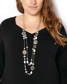 Long Multi-Stone Necklace | #penningtons #plussize #plussizefashion #plussizetrends