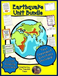 Earthquake Unit ~ Close Reading ~ Text Dependent Questions : We have developed this Common Core aligned complete Earthquake Unit with CLOSE Reading passages, research report, text dependent questions, and essential questions that contains everything needed to teach a rigorous unit on earthquakes. $