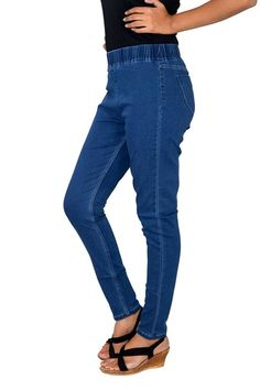 Romano Women's Blue Cotton Denim Jegging >>> Unbelievable offers are coming! : Women's Fashion for FREE