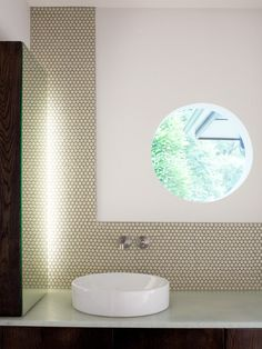 Green Penny Round Tile Shower Design, Pictures, Remodel, Decor and Ideas - page 19