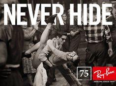 """""""Never hide"""" 75th annyversary campaign, by Ray Ban. 7 imágenes que homenajean a aquellas personas que se atrevieron a romper las convenciones de su tiempo. Fotografías de Mark Seliger"""