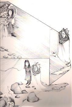 "Marketa Prachaticka illustration for ""Alice in Wonderland""."
