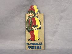 The Toddles Twins Antique Children's Book Decor McLoughlin Brothers Baby Nursery Child's Room Decor