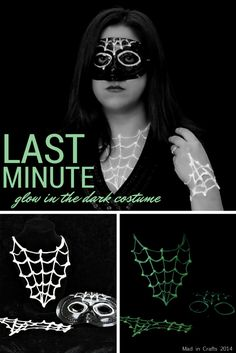 Last Minute Glow in the Dark Halloween Costume by @madincrafts